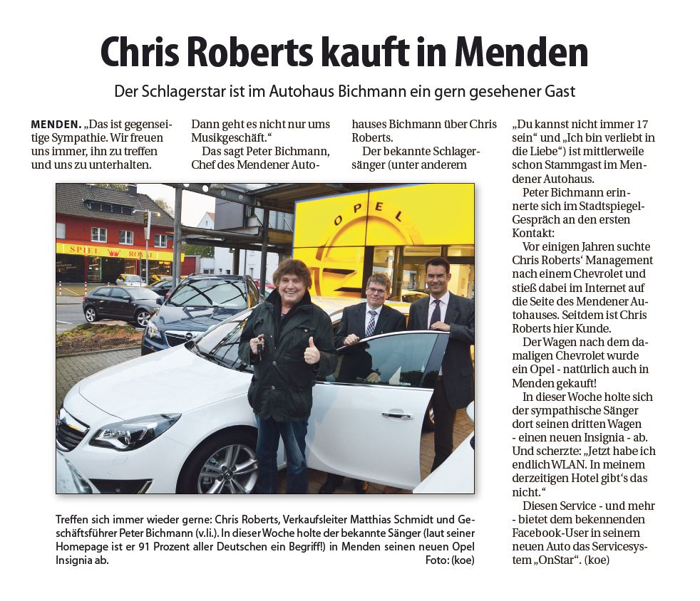 Chris Roberts kauft in Menden